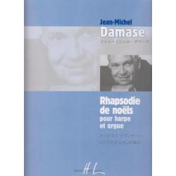 Damase Jean-Michel - Rhapsodie de noëls (harpe et orgue)