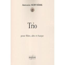 Servière Antonin - Trio - pour flûte, alto et harpe