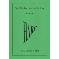 Clifton-Welker Fiona - (Grade 1) Sight-Reading Exercises for Harp