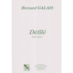 Galais Bernard - Défilé (deux harpes)