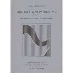 Mendelssohn Felix - Romance sans paroles n° 25 (Op.62, n°1)