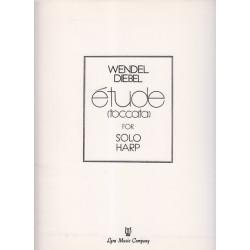 Destockage - Diebel Wendel - Etude (toccata), partie harpe seule (1° harpe)