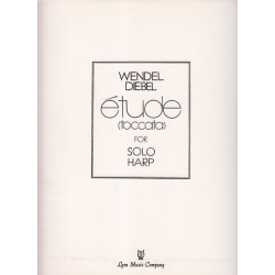 Diebel Wendel - Etude (toccata), partie harpe seule (1° harpe)
