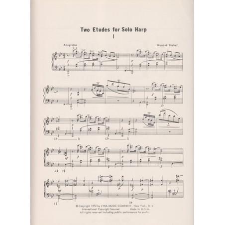 Diebel Wendel - 2 études (for solo harp)