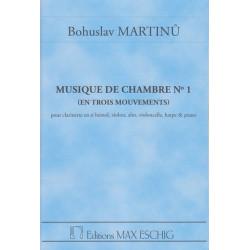 Martinu Bohuslav - Musique de chambre n°1, conducteur de poche (alto, clarinette, piano, violon, violoncelle & harpe)