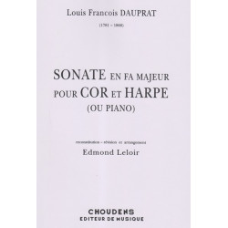 Dauprat Louis François - Sonate (cor & harpe ou piano)