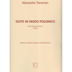 Tansman Alexandre - Suite in Modo Polonico (guitare & harpe)