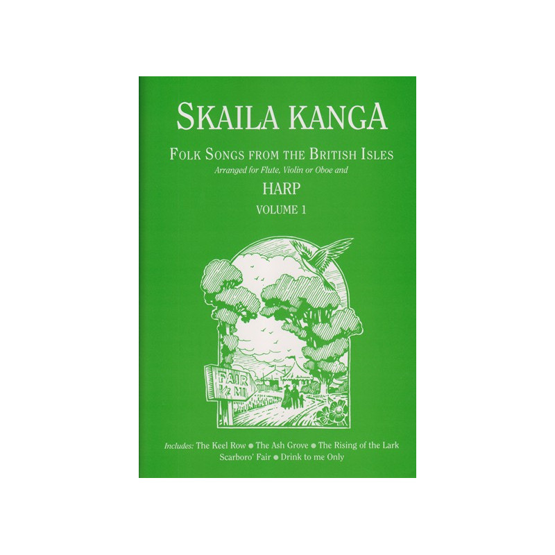 Kanga Skaila - Folk Songs from the British Isles Vol. 1 (flûte, violon ou hautbois & harpe)