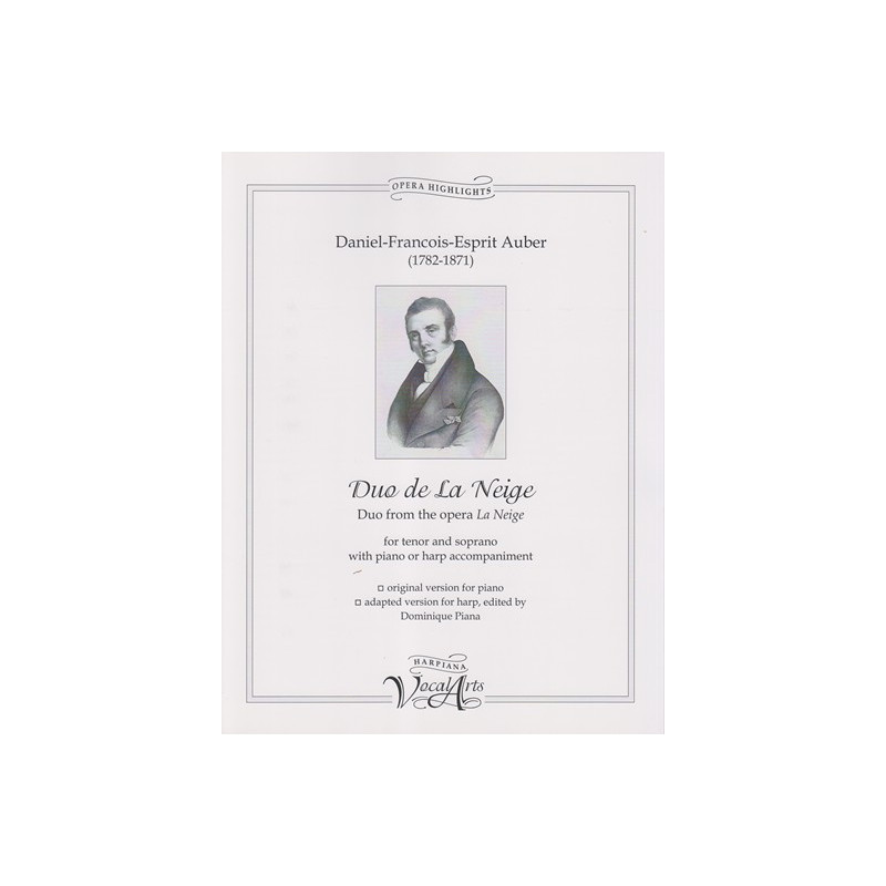 Auber Daniel-François-Esprit - Duo de la neige (tenor and soprano with harp or piano)