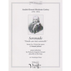 Grétry André-Ernest-Modest - Sérénade (voice and harp or piano)