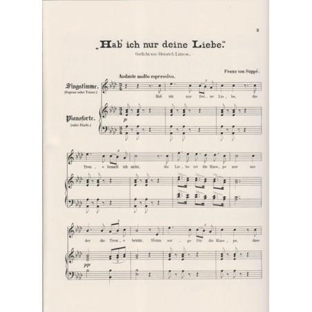 Suppé Franz von - Lied : Hab ich nur deine liebe (voice and harp)