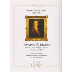 Méhul Etienne-Nicolas - Romance d'Ariodant (voice and harp)