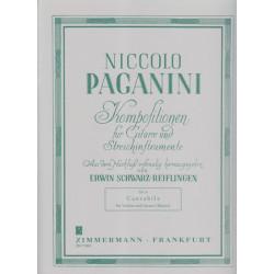 Paganini Nicolo - Cantabile (Violon ou guitare & harpe)
