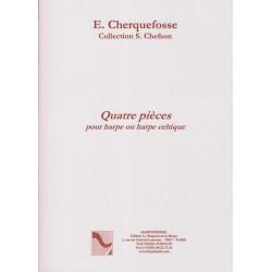 Cherquefosse Elizabeth - 4 pièces pour harpe classique ou harpe à pédal