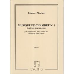 Martinu Bohuslav - Musique de chambre n°1, parties (alto, clarinette, piano, violon, violoncelle & harpe)
