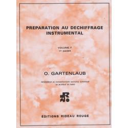 Gartenlaub Odette - déchiffrage Vol. F 1° cahier