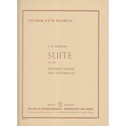 Tedeschi Luigi Maurizio - Suite op.46 (violon, violoncelle & harpe)