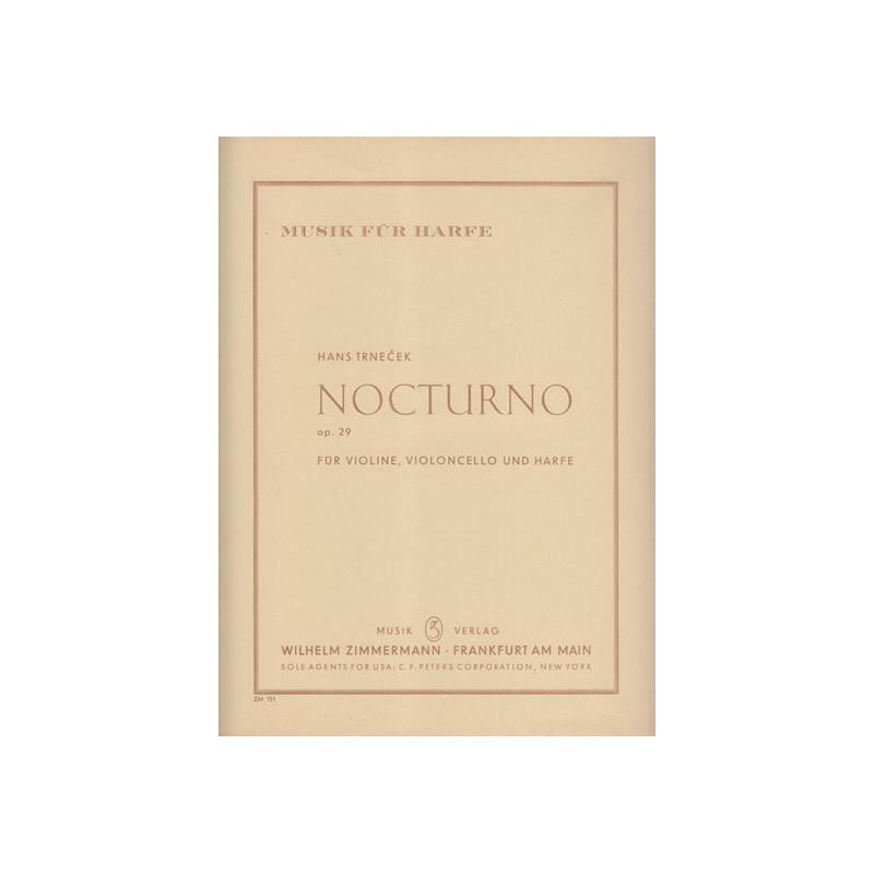 Trnecek Hans - Nocturno op.29 (violon, violoncelle & harpe)