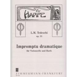 Tedeschi L.M. - Impromptu dramatique op.33 (violoncelle & harpe)