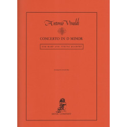 Vivaldi Antonio - Concerto en ré mineur pour harpe et quatuor à cordes
