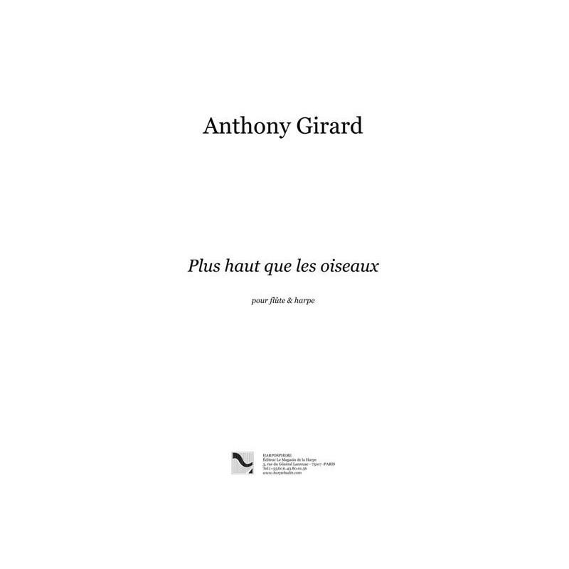Girard Anthony - Plus haut que les oiseaux (flûte et harpe)