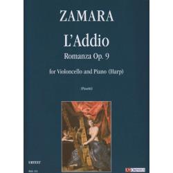 Zamara Antonio - L'addio Romanza op. 2 (violoncelle & harpe)