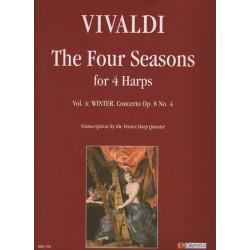 Vivaldi Antonio - Le quatro stagioni per 4 arpe vol. 4