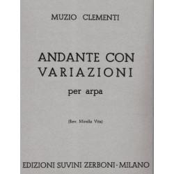 Clementi Muzio - Andante con variazioni per arpa
