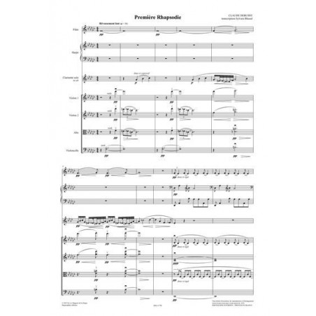 Debussy Claude - Première Rhapsodie pour clarinette principale