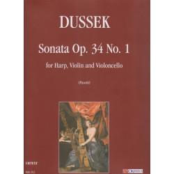 Dussek Jan Ladislav - Sonata Op.34 N°1 (for harp, violin an violoncello)