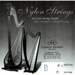 Camac 04 (B) Si Nylon (octave 1) - Lever harp Si 0
