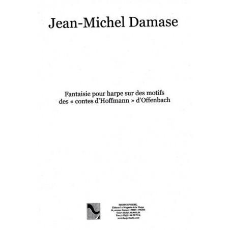 """Téléchargement - Damase Jean-Michel - Fantaisie pour harpe sur des motifs  des """"Contes d'Hoffmann"""" d'Offenbach"""