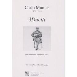 Munier Carlo - 3 duetti (mandoline et harpe)