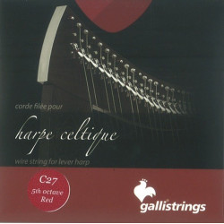 32 (E) Mi métal filée pour harpe celtique (Camac - Galli)