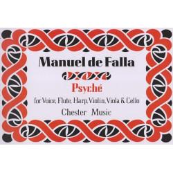de Falla Manuel - Psyche (voix, flûte, violon, alto, violoncelle & harpe)