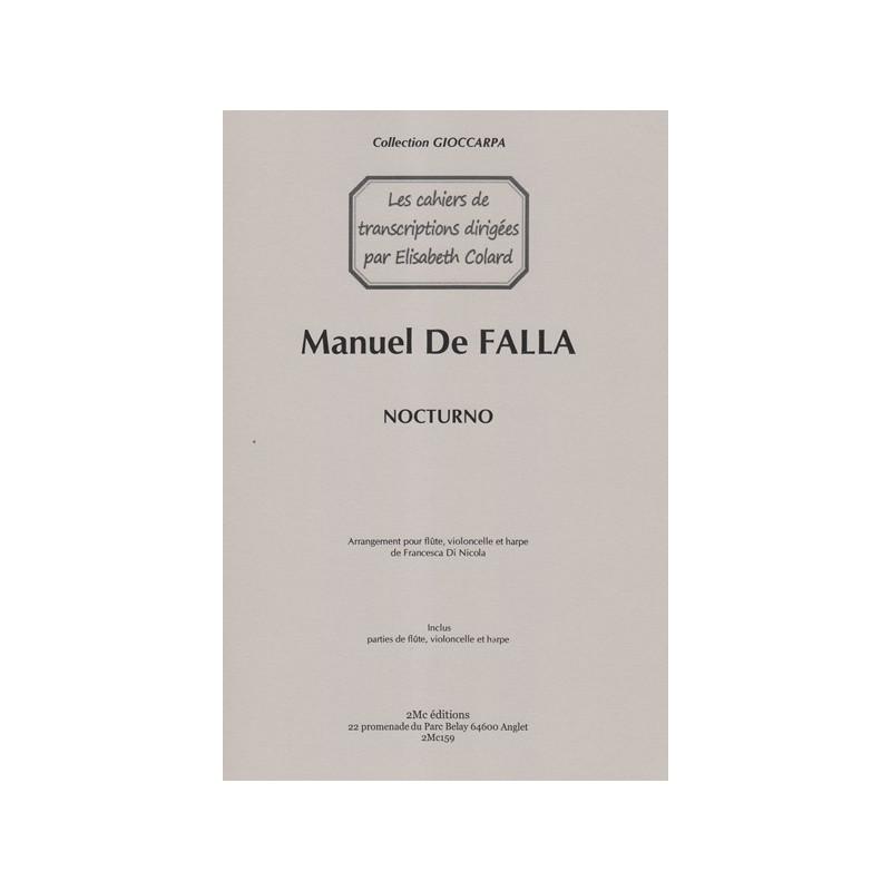 De Falla Manuel - Di Nicola Francesca - Nocturno (flûte, violoncelle & harpe)