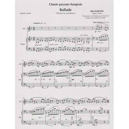 Bartok Bela - Goichon Frédérique - Gallade (alto & harpe)