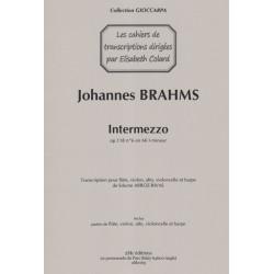 Brahms Joannes - Arroz-Rivas Edurne- Intermezzo Op.118 (flûte, violon, alto, violoncelle & harpe)