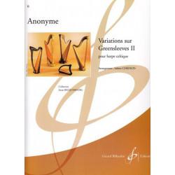 Anonyme - Variations sur Greensleeves vol 2 (harpe celtique)<br>Sabine Chefson