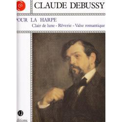 Debussy Claude - Pour la harpe Clair de lune - Rêverie - Valse romantique