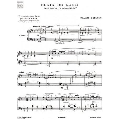 Debussy Claude - Pour la harpe<br> Clair de lune - R