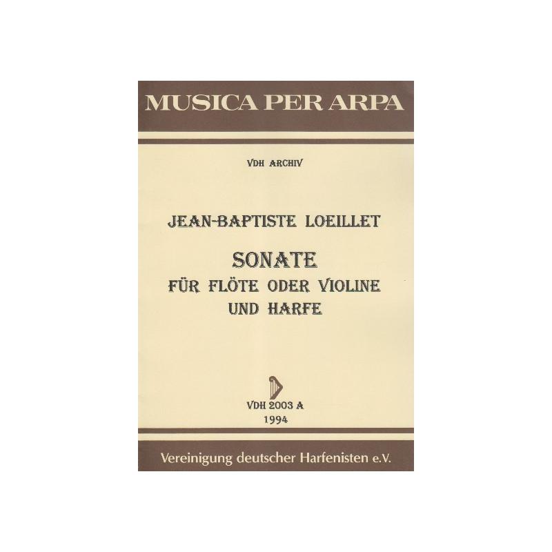 Loeillet Jean Baptiste - Sonate (flûte ou violon & harpe)