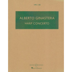 Ginastera Alberto - Harp concerto - Score - Pocket