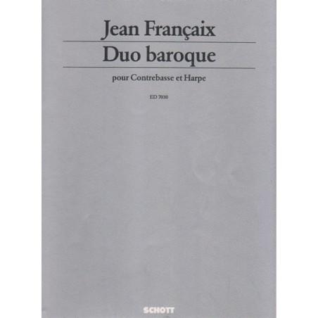 Françaix Jean - Duo baroque (contrebasse & harpe)