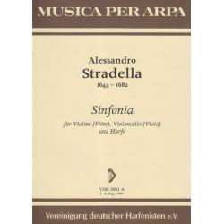 Stradella Alessandra - Sinfonia (flûte, violoncelle & harpe)