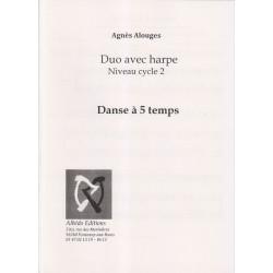Alouges Agnès - Duo avec harpe - Danse à 5 temps