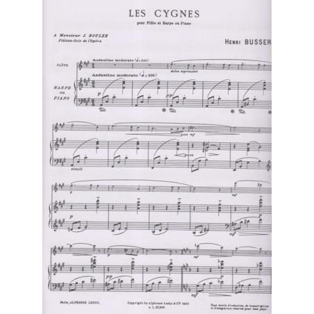 Busser Henri - Les cygnes (fl