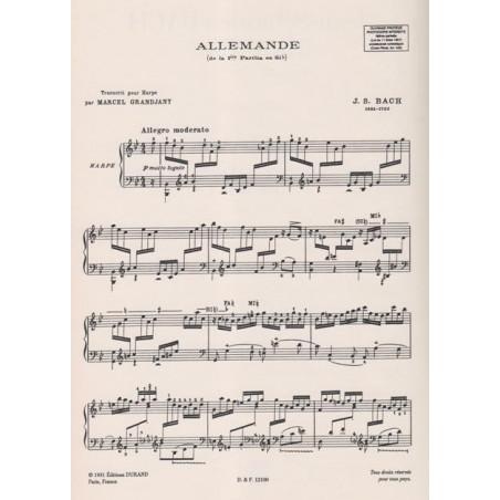 Bach Johann Sebastian - Allemande de la premi