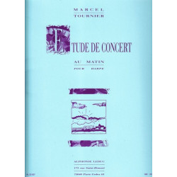 Tournier Marcel - Etude de concert, au matin
