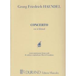 Haendel Georg Friedrich - Concerto en si b, cadence de Grandjany Marcel